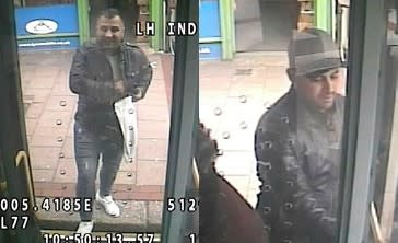 Images of the men police wish to identify