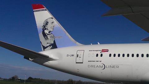 H.C. Andersen hyldes på Norwegians nyeste 787 Dreamliner