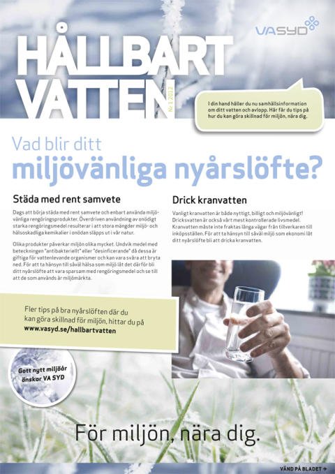 Hållbart vatten- ny kundinformation