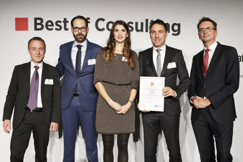 "Preisverleihung ""Best of Consulting"" an IMP"