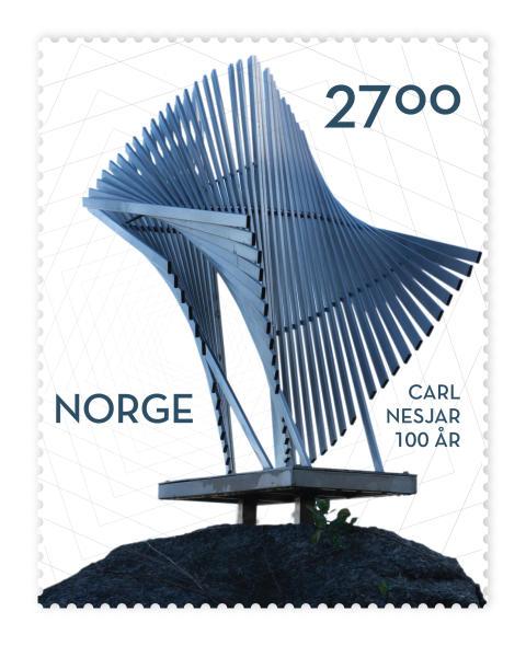 Fontene motiv på Carl Nesjar-frimerke