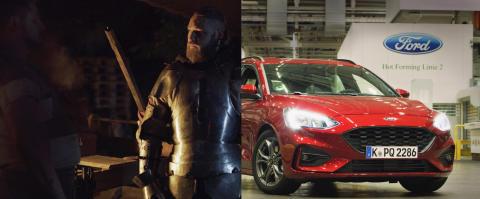 Rytíři ve zbroji, roboty a lasery: Ford jako první plně zautomatizoval proces, díky kterému je nový Focus ještě bezpečnější