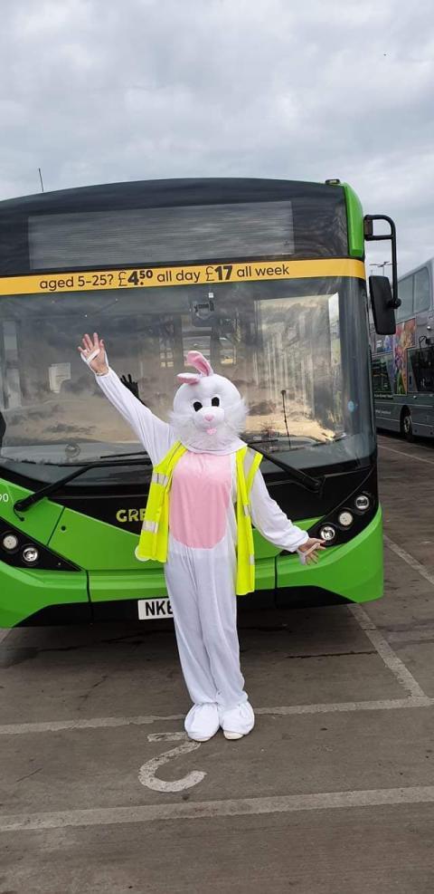 Go North East key worker spreading Easter weekend cheer