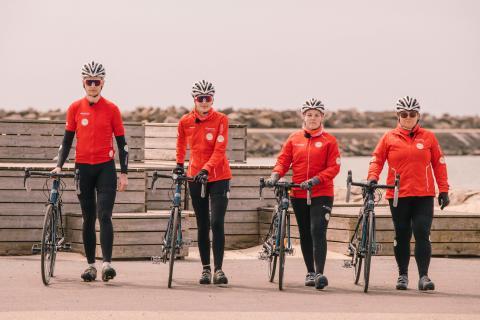 Deltagarna i serien Min Klassiker cyklar Vätternrundan digitalt