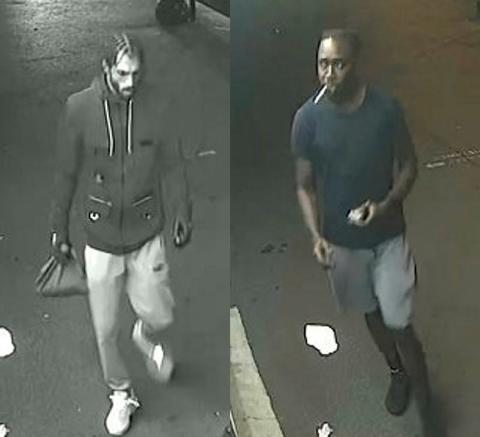 Images of two men police wish to identify