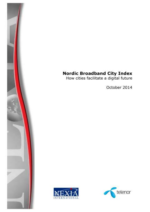 Nordiskt bredbandsindex 2014