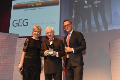 Christoph Kahl, Jamestown  US-Immobilien, Köln, erhält den Lifetime Award