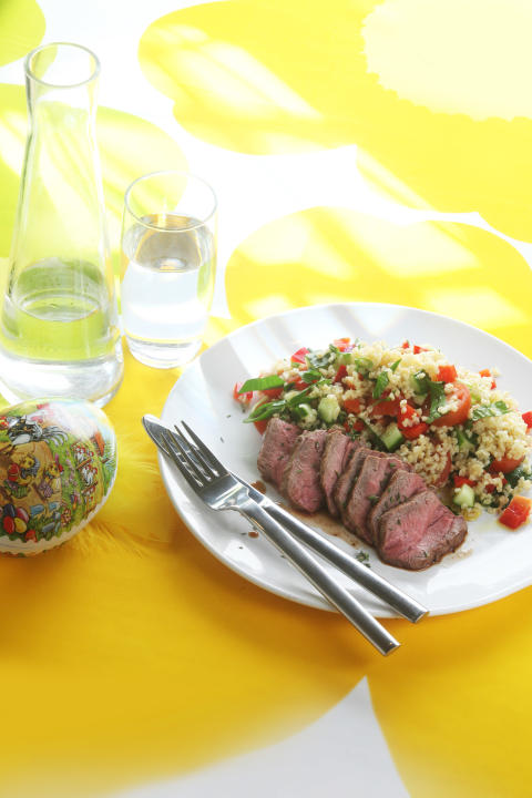 Grillad lammfilé med tabbouleh
