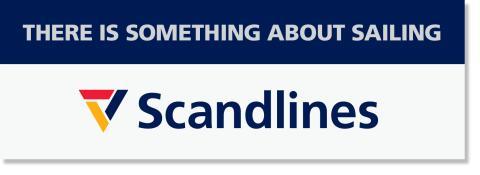 Scandlines Logo mit englischen payoff