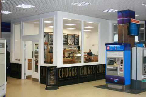 Chuggs coffee shop after the refurbishment