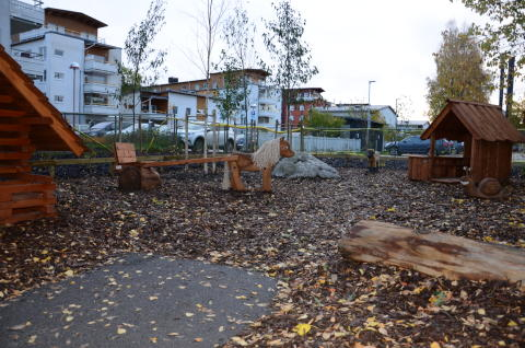 Hus och djur på förskolan Smedens gård