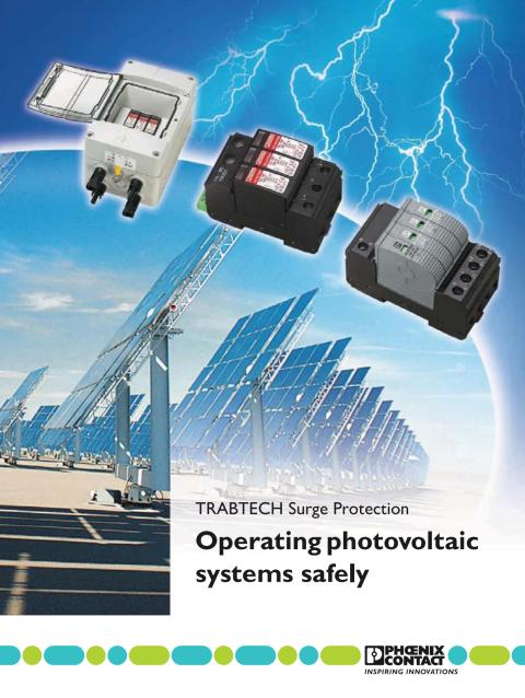Operating photovoltaic systems safely