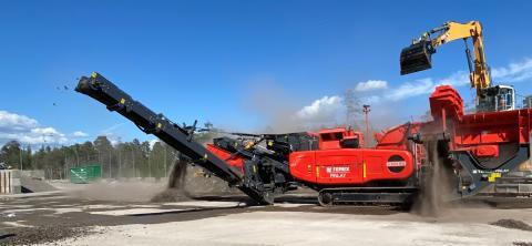 Slagkross I-120RS testas på nytt material