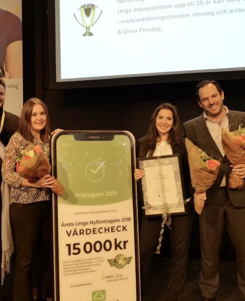 Mehri Nasirian och Docia AB är Årets Unga Nyföretagare!