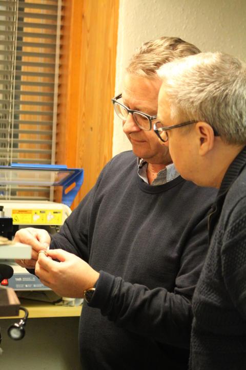 Peter Pind fra Pind J Design og Svend Madsen fra Indgang-IT