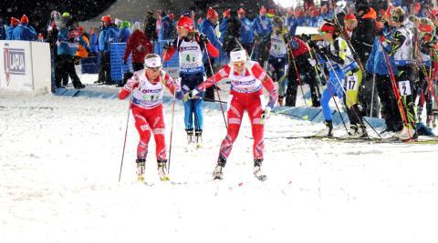 Mixed stafett, veksling Fanny-Tiril, VM Kontiolahti 2015