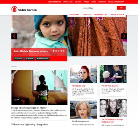 Rädda Barnen lanserar ny webbplats