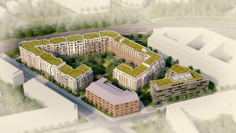 Residential construction contract worth approx. € 80 million for ZÜBLIN in Berlin