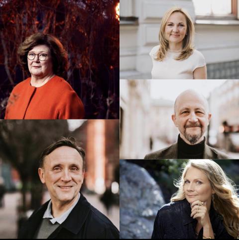 Välkända författare presenterar sina nya böcker på kvällens författarträff online.