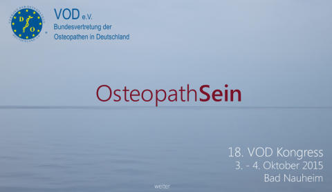Osteopathie-Kongress 2015 in Bad Nauheim