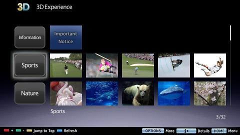 3D Experience von Sony