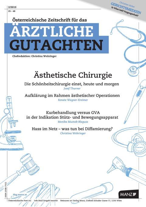 Ästhetische Chirurgie und Begutachtung in der DAG 2/2019