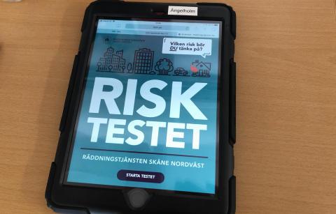 Räddningstjänsten Skåne Nordvästs nya risktest.