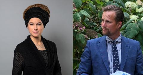 Amanda Lind, kultur- och demokratiminister med ansvar för idrottsfrågorna och Carl Johan Sonesson, regionstyrelsens ordförande Region Skåne