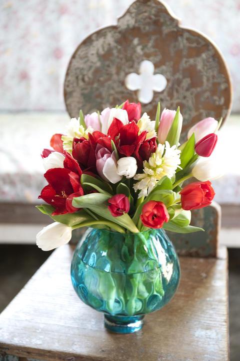 Blandad blomsterlöksbukett