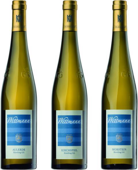 En trio högklassiga Riesling Grosses Gewächs-viner från Weingut Wittmann i exklusivt webbsläpp!