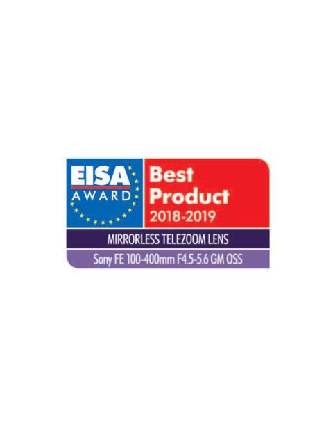 EISA Award Logo Sony FE 100-400mm F4.5-5.6 GM OSS-20