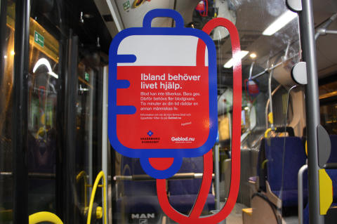 Busskampanj ska generera fler blodgivare