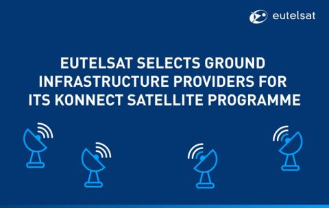 Eutelsat selects ground infrastructure providers for its KONNECT satellite programme