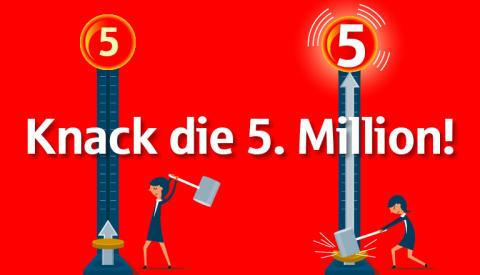 Zusammen schaffen wir die 5 Millionen Marke auf der Spendenplattform gut-fuer-muenchen.de!