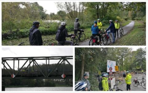 Qualitätsprüfer heute unterwegs auf dem RuhrtalRadweg zwischen Essen und Duisburg