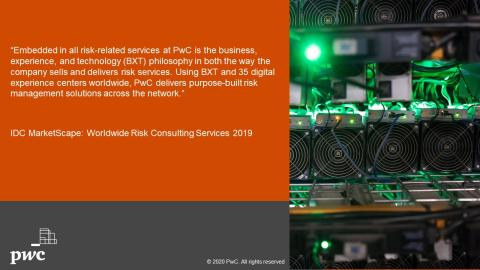 PwC named a Leader in the IDC MarketScape for Worldwide Risk Consulting Services