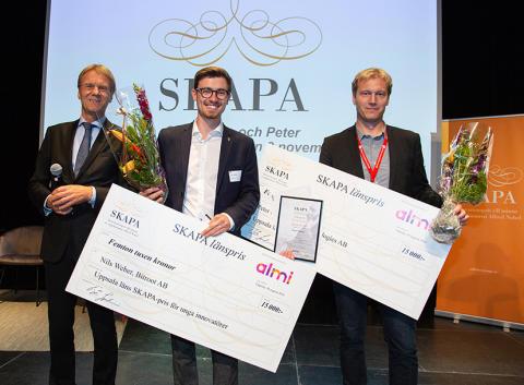 APR Technologies och Bitroot vann SKAPA-priser för Uppsala län