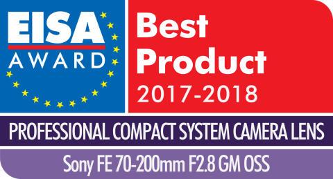 EISA Award Logo Sony FE 70-200mm F2.8 GM OSS