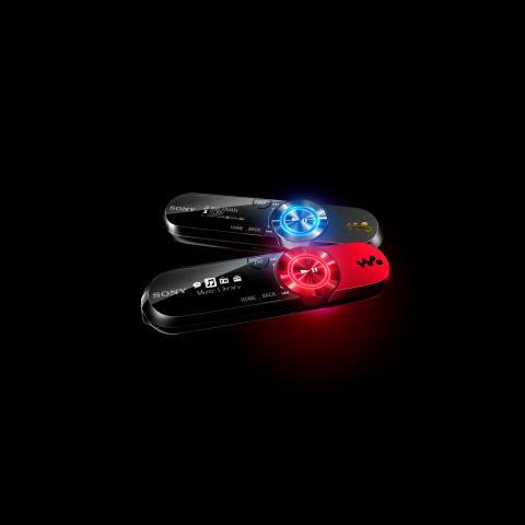 Walkman B Series Music Clip red & black glow