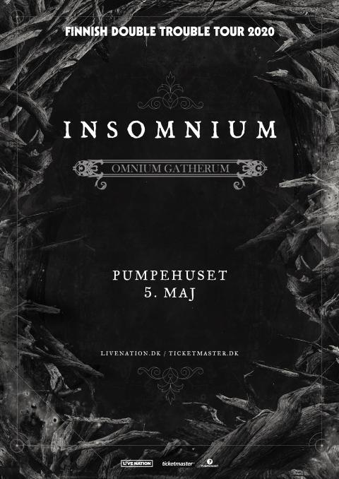 Insomnium: Finnish Double Trouble Tour 2020 kommer til Pumpehuset!