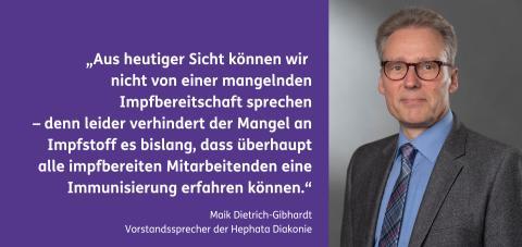 """Hephata-Vorstand: """"Möglichst hohe Impfquote bei Klient*innen und Mitarbeitenden ist das Ziel"""""""