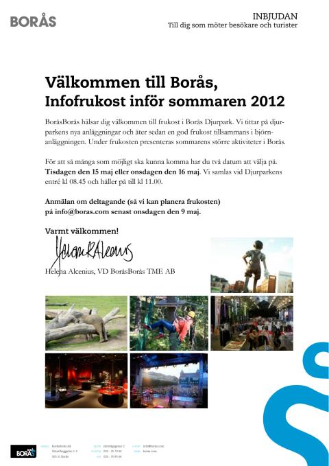 Inbjudan, frukostmöte 2012