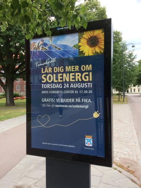 Pressinbjudan: Välkommen att delta på temakväll om solenergi 24 augusti