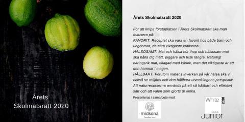 Midsona Foodservice och White Guide Junior - Årets Skolmatsrätt