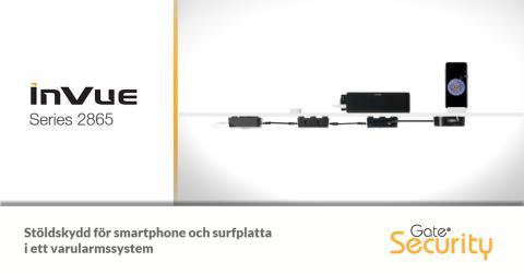 Stöldskydd för smartphone och surfplatta i ett varularmssystem
