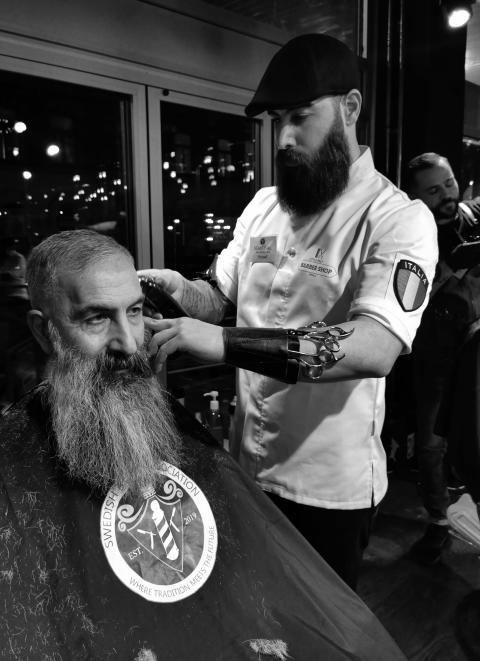 Yousef Delbakhet, Little Italy Barbershop, Uppsala