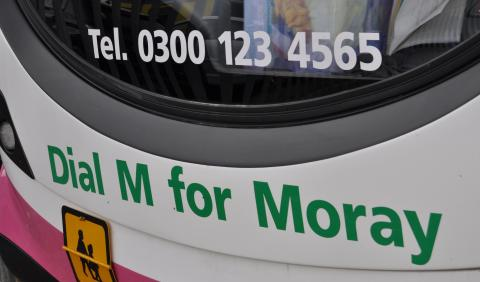 Under threat bus service saved by Moray Council