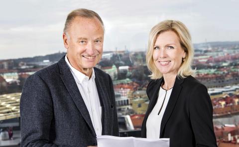 Roger Holtback, ordförande, och Carin Kindbom, vd och koncernchef