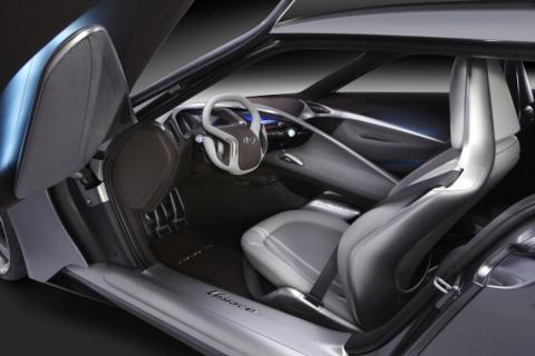 HND-9 Sportskupe konseptbil Interiør