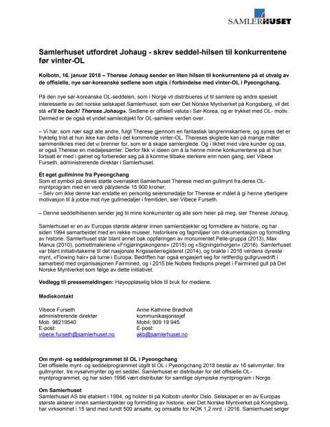 Samlerhuset utfordret Johaug - skrev seddel-hilsen til konkurrentene før vinter-OL